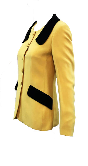 Moschino Yellow and Black Bumblebee Jacket Side 2 of 5