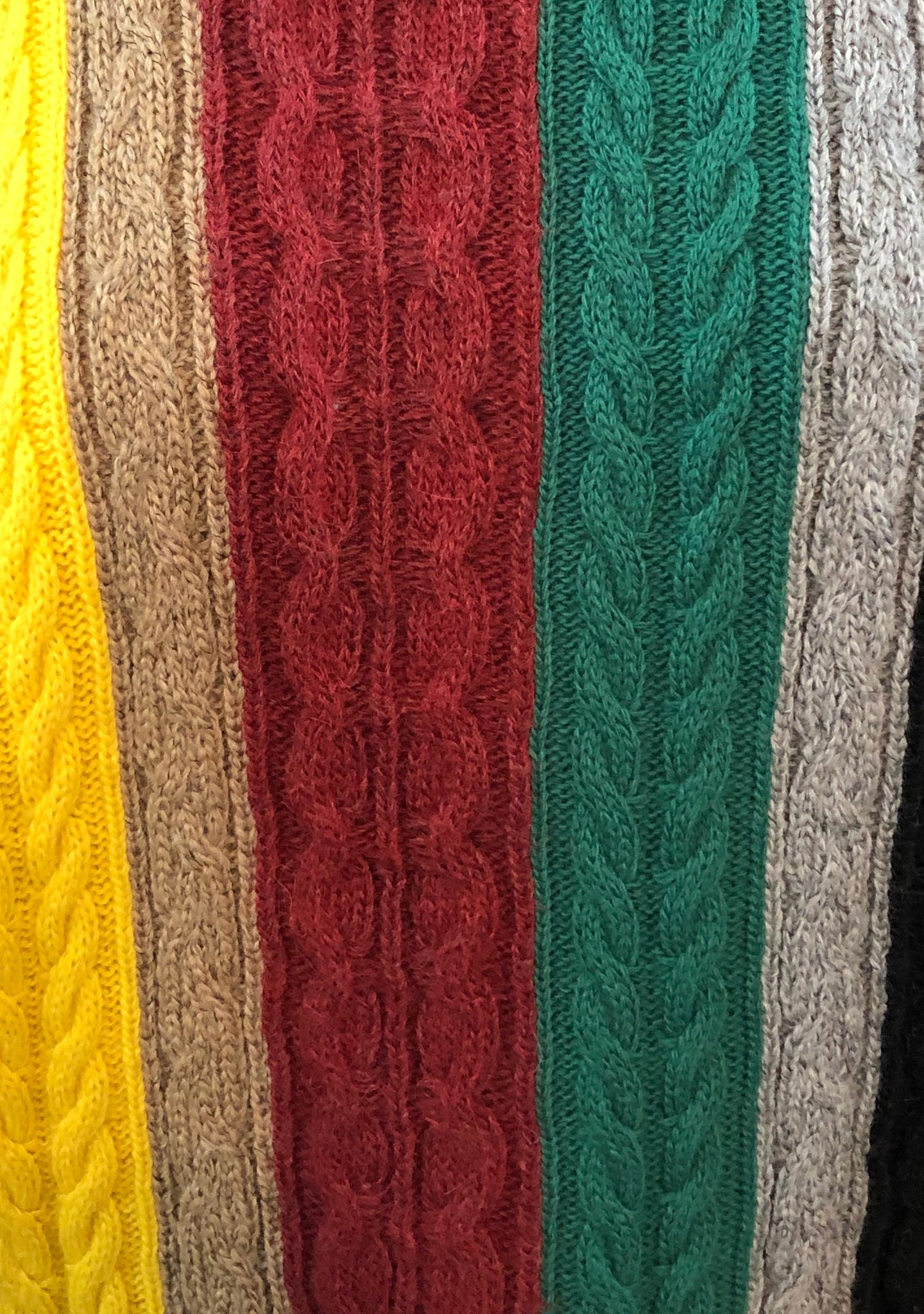 Lifetime Versace Oversized cable Knit Striped Sweater Detail 3 of 3