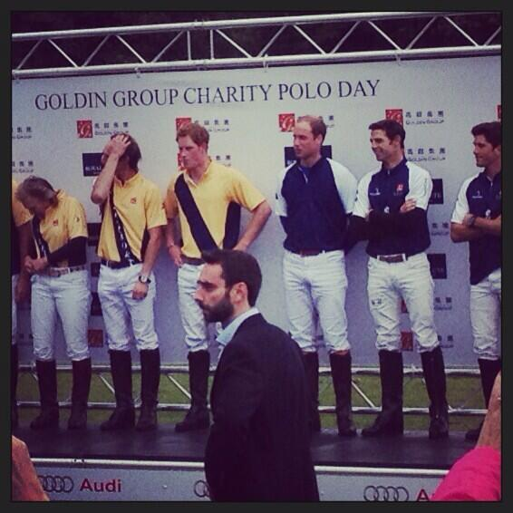 Prince Harry and William Enjoy the Beaufort Polo Event
