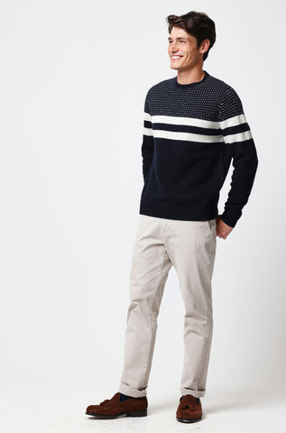 Barnsley Navy Alpine Jumper