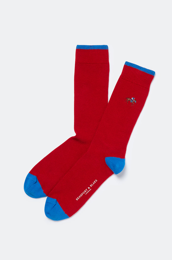 Badminton Jockey Embroidered Socks