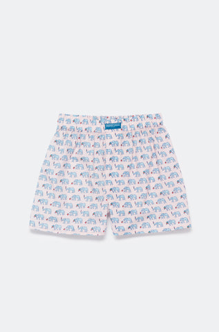 Beau Beau at the Beach Pink Boxer Shorts