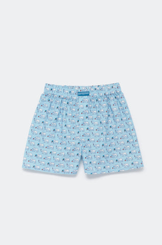 Beau Beau at the Beach Sky Boxer Shorts