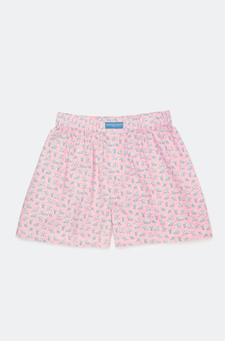 Beaufort Elephant Pink Boxer Shorts