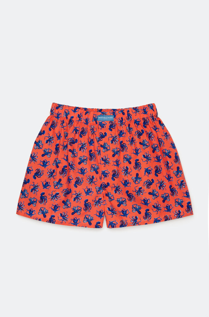Benthic Octopus Coral Boxer Shorts