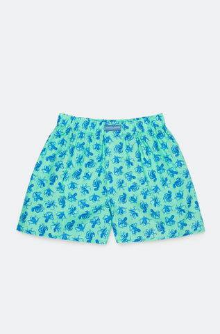 Benthic Octopus Mint Boxer Shorts