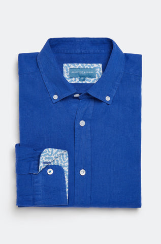 Borthwood Azure Linen Shirt