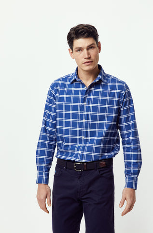 Brighstone Navy Check Shirt