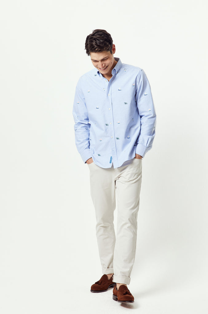 Whitwell Embroidered Oxford Shirt