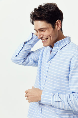 Cowes Sky Stripe Shirt