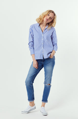 Knighton Cobalt Stripe Shirt