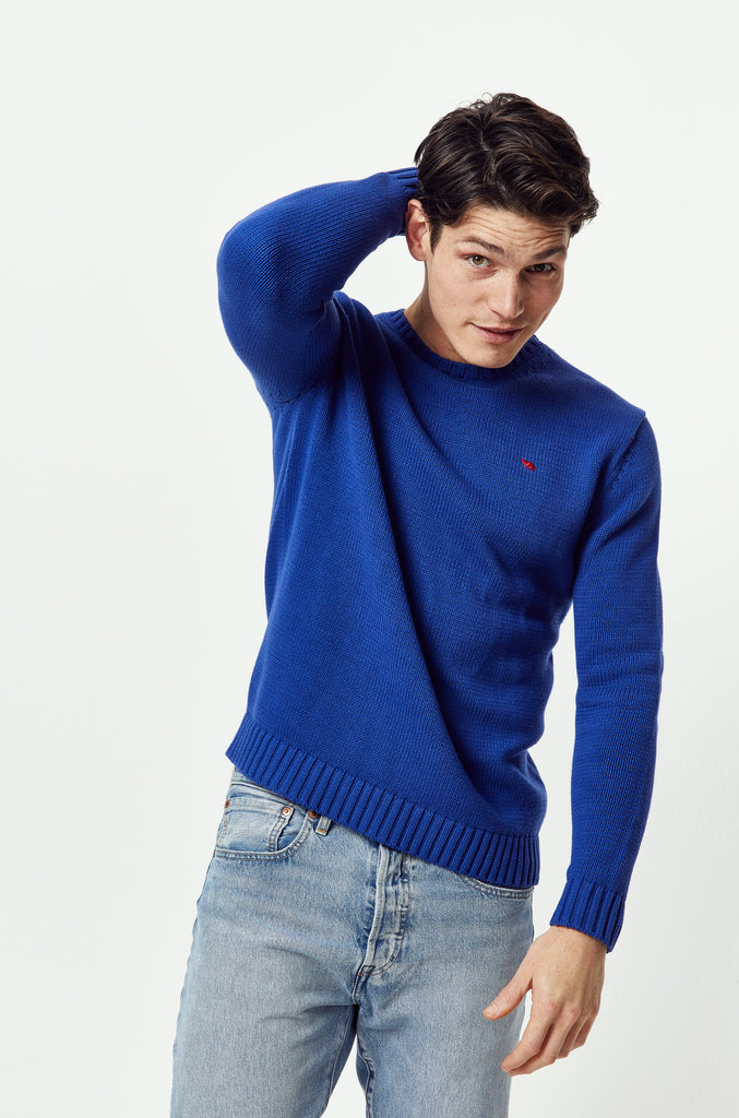 Porchfield Cobalt Crew Neck Jumper
