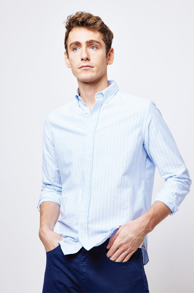 Portesham Sky Stripe Oxford Shirt