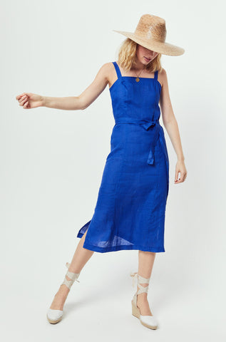 Seagrove Azure Linen Dress