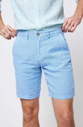 Wootton Sky Linen Shorts