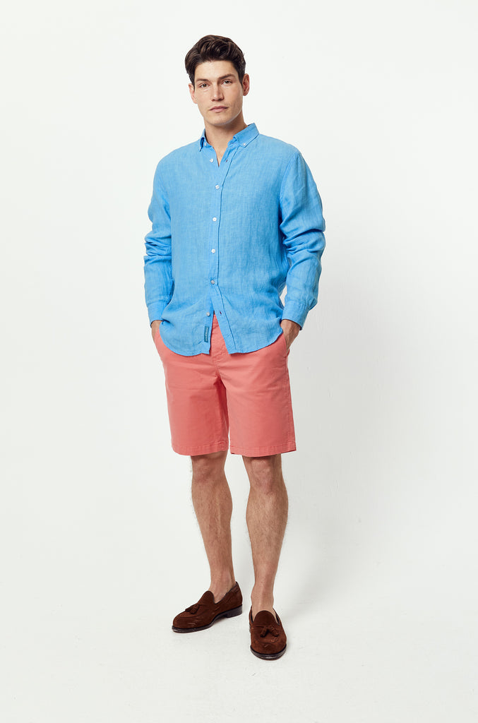 Borthwood Cornflower Linen Shirt