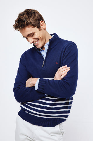 Chilcombe Stripe Half Zip Jumper