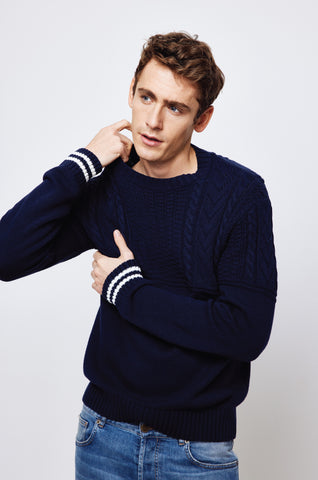 West Bay Navy Crew Neck Jumper