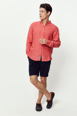 Borthwood Coral Linen Shirt