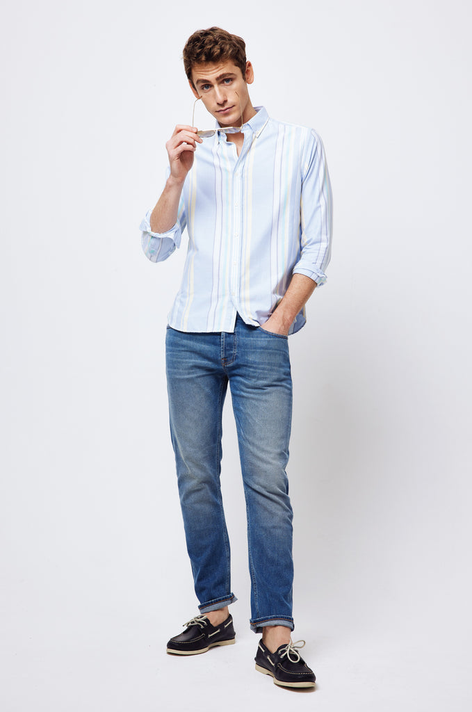 Bexington Multi Stripe Oxford Shirt