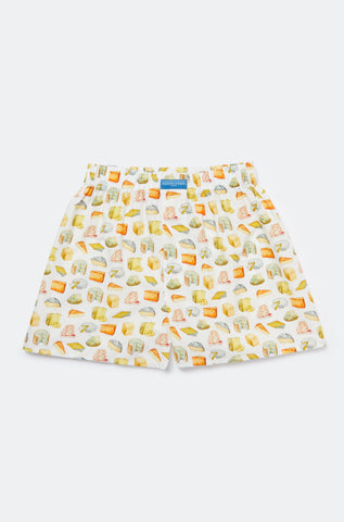 Favourite Cheese White Boxer Shorts