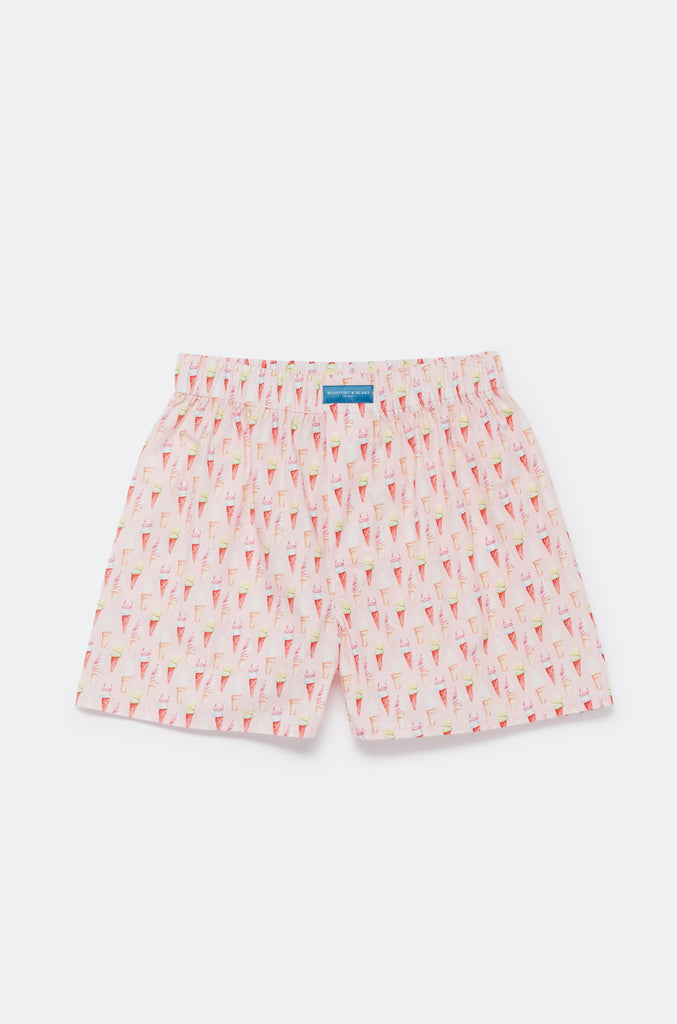 Favourite Ice Cream Pink Boxer Shorts