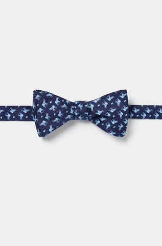 Favourite Elephant Navy Bow Tie