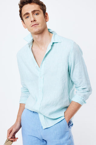 Lulworth Classic Mint Linen Shirt