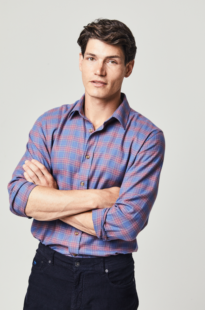 Mull Wool Blend Check Shirt
