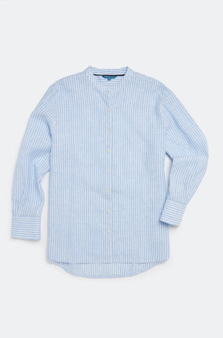 Newbridge Sky Stripe Linen Shirt