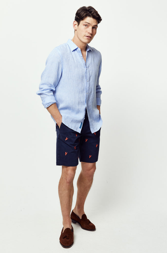 Calbourne Navy Embroidered Shorts