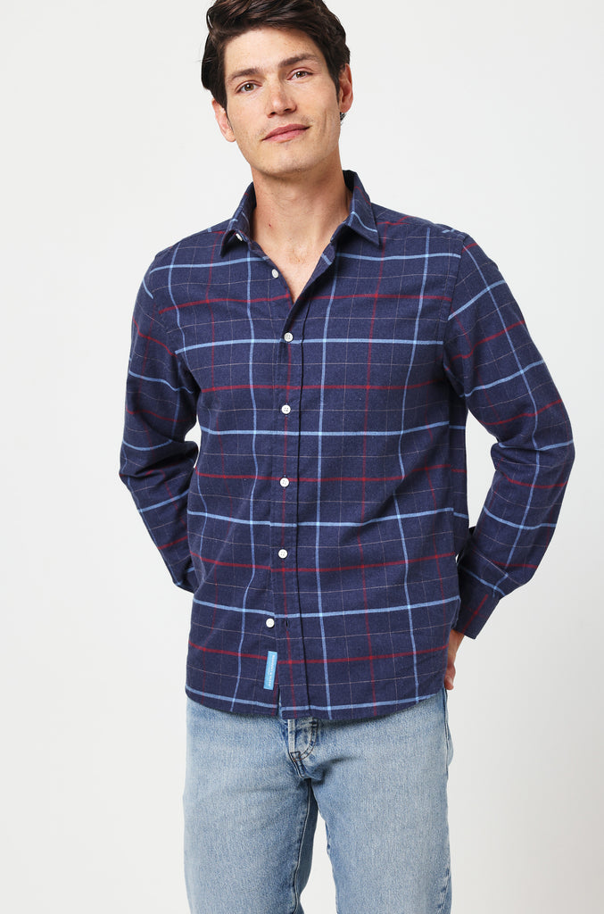 Berkeley Navy Check Shirt