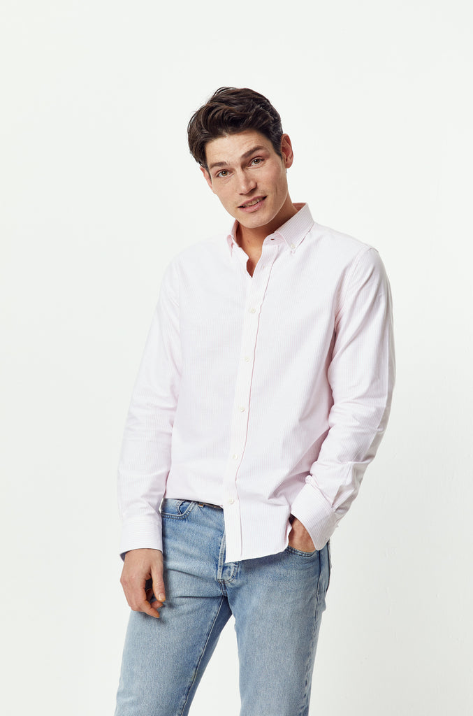 Admiral Pink Stripe Oxford Shirt
