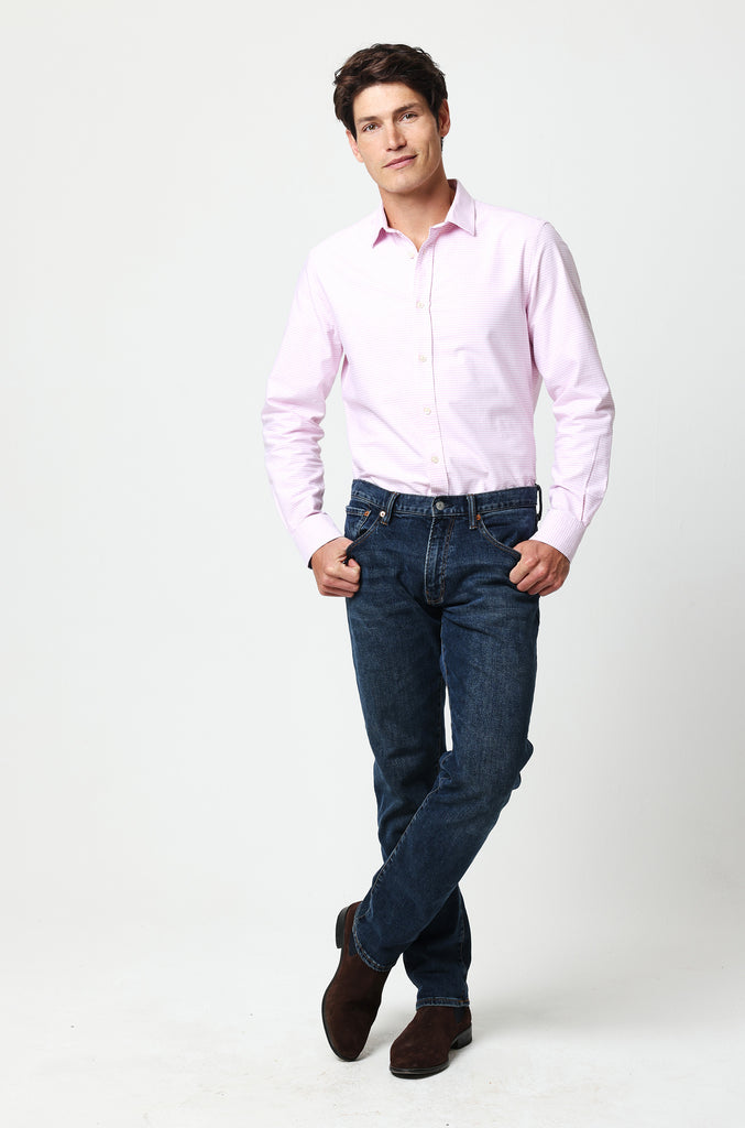 Eaton Pink Gingham Oxford Shirt