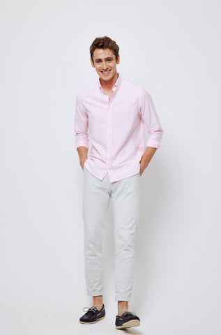 Portesham Pink Stripe Oxford Shirt
