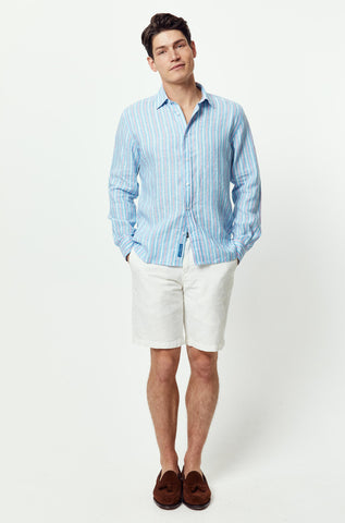 Tennyson Linen Stripe Shirt