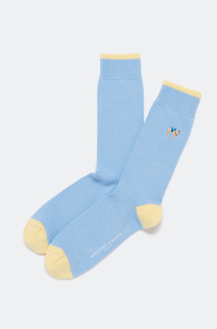Seaside Camel Embroidered Socks