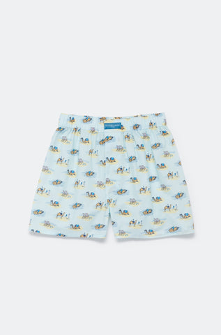 Seaside Camel Sky Boxer Shorts