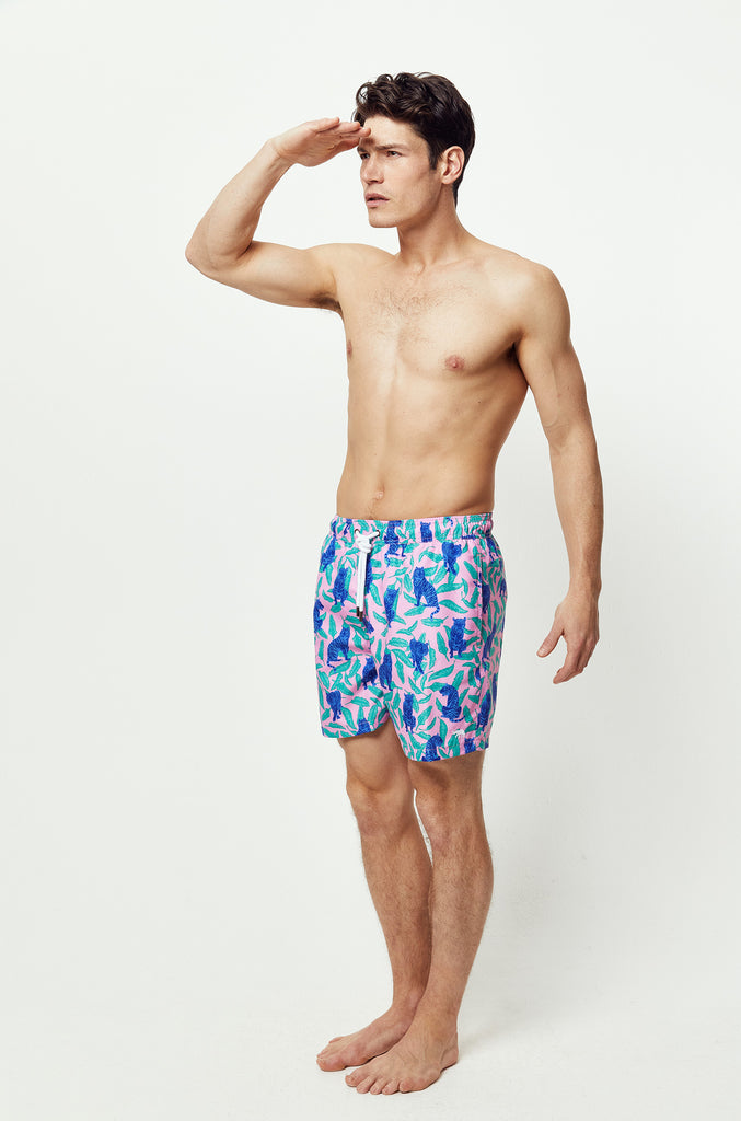 Caspian Tiger Pink Swim Shorts
