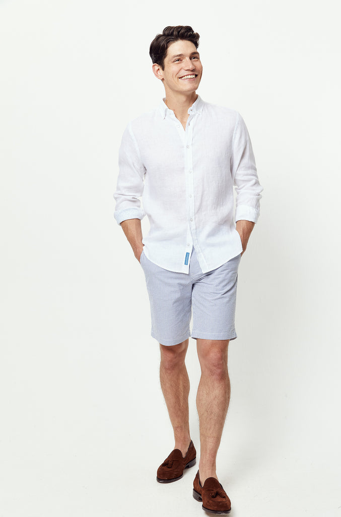 Borthwood White Linen Shirt