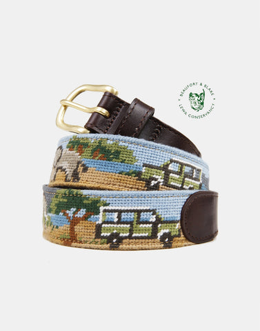 Lewa Safari Scene Limited Edition Needlepoint Belt