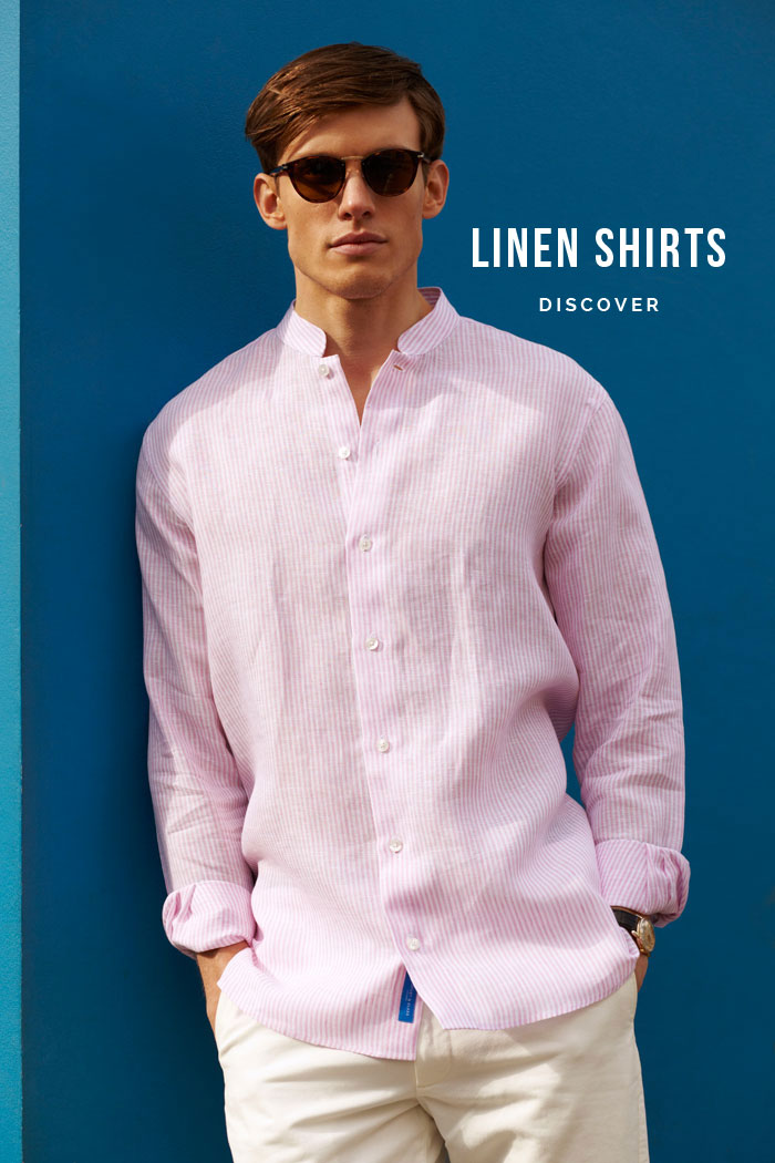 JAIPUR SLIM FIT NEHRU LINEN SHIRT