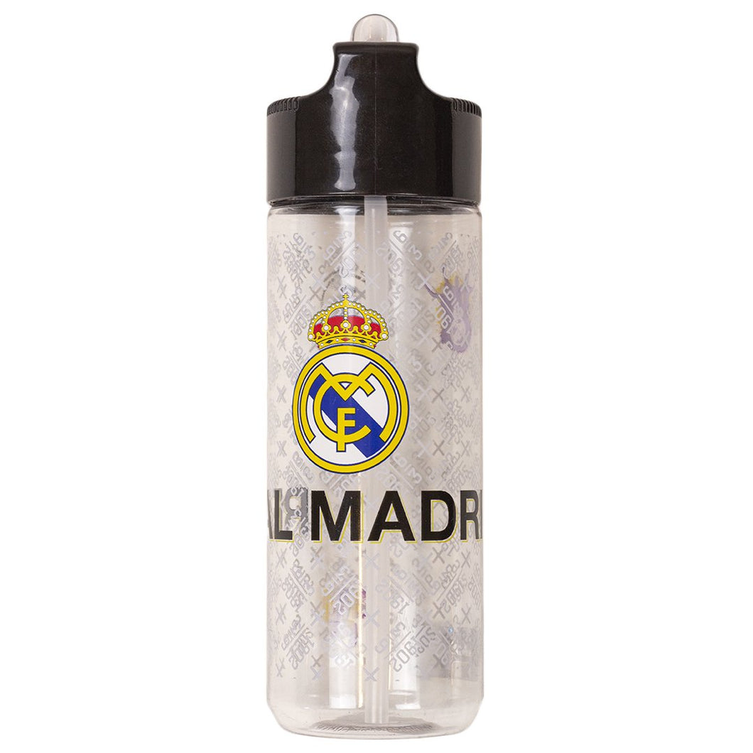Real Madrid vattenflaska 540 ml med sugrör