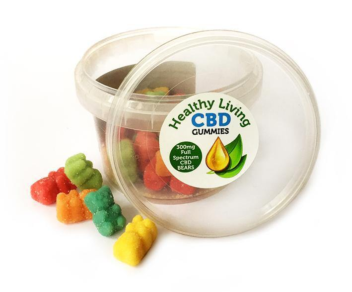 Healthy Living CBD Gummy Bears 10mg Tubs - No1 CBD