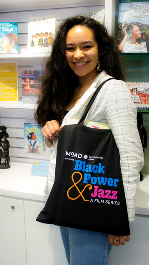 Black Power & Jazz: A Film Series Tote Bag