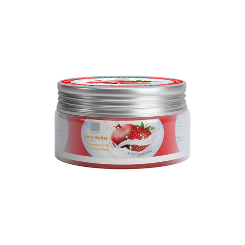 Body Butter Blended With Oils (Strawberry & Pomegranate) 300gr