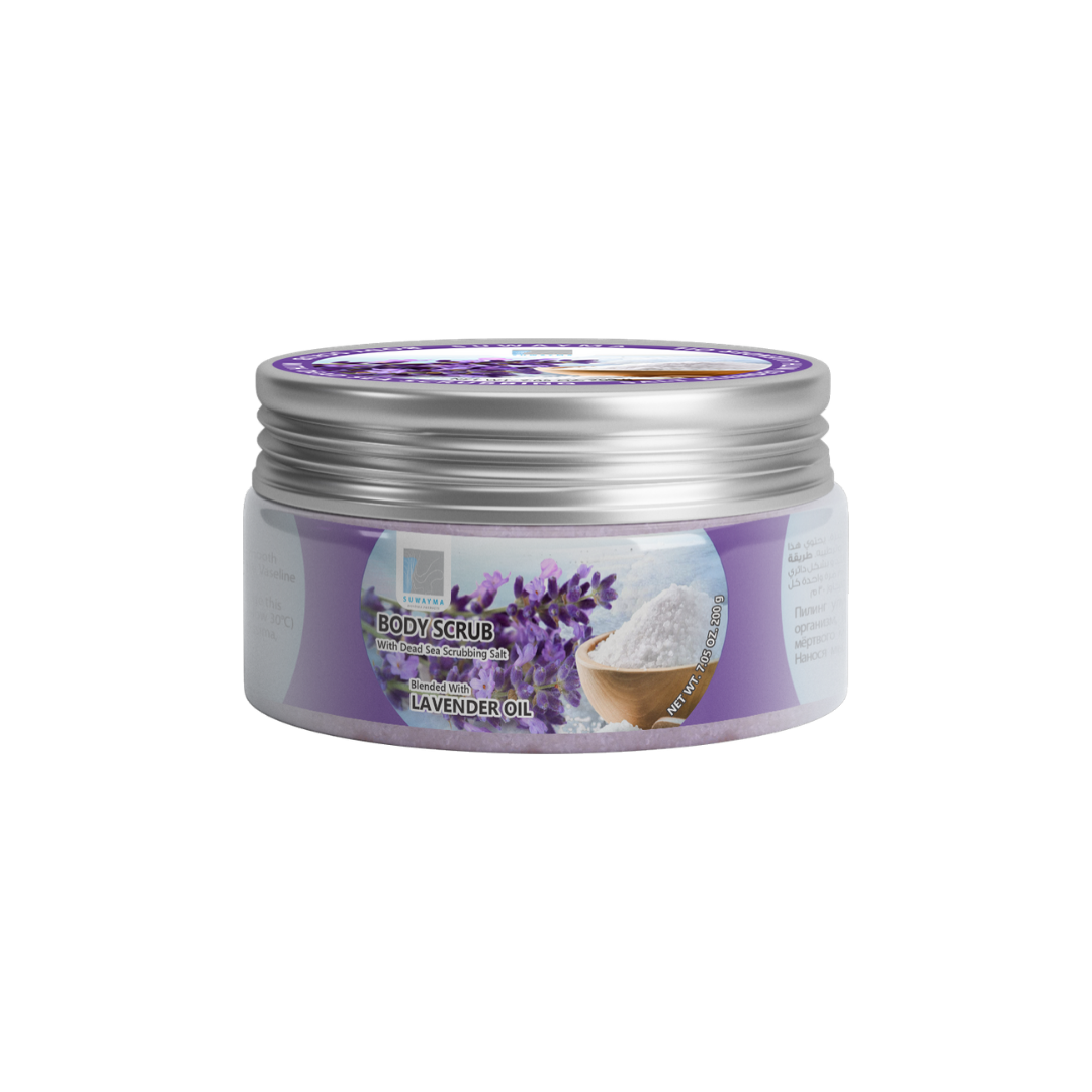 Body Scrub with Dead Sea Scrubbing Salt (Lavender Oil) 300gr