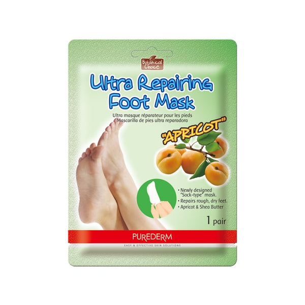 PUREDERM Ultra Repairing Foot Mask Apricot and Shea Butter