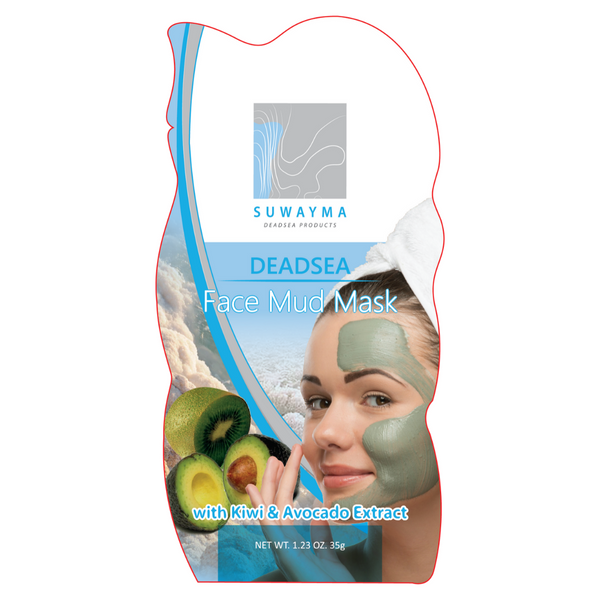 Dead Sea Face Mud Mask with Kiwi & Avocado Extract 1 Sachet