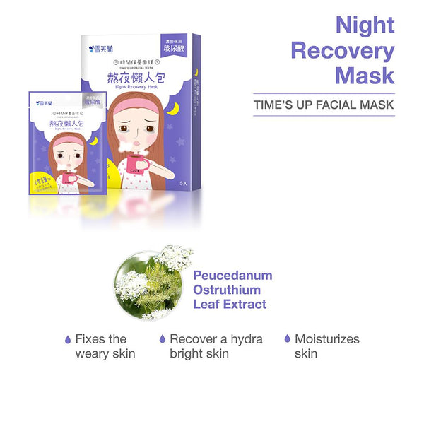 TIME'S UP FACIAL MASK - Night Recovery MASK 1 pc